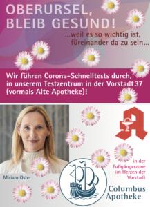 Corona Testzentrum Oberursel Vorstadt 37_Columbusapotheke_Miriamoster-217x300